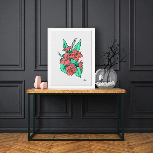Ada-Diez-AD6-My-Artist-Lab-Editions-enmarcado-en-blanco-ambiente