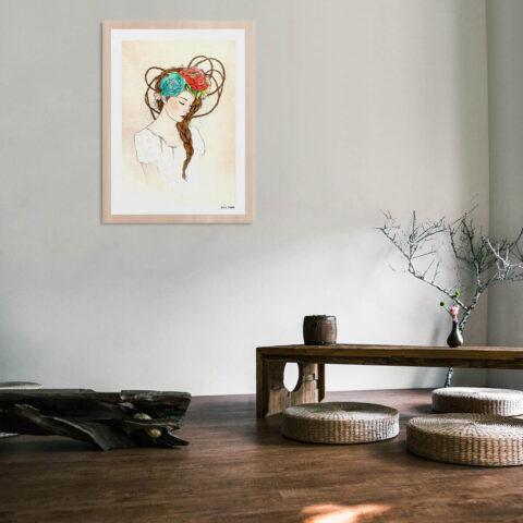 Belen Segarra #BS1 enmarcado madera de haya en ambiente