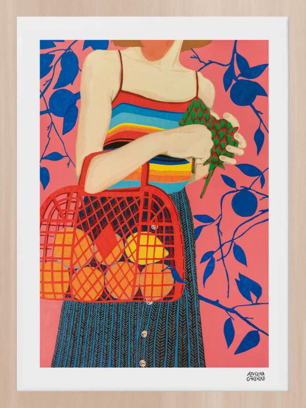 Azucena González #AG2 enmarcado en madera de haya